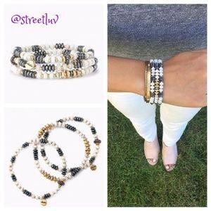stella & dot ~ nomad stretch bracelets set